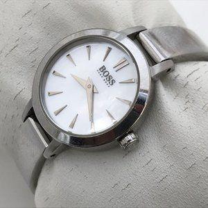 Hugo Boss Women Watch Silver Tone MOP Face Wrist W